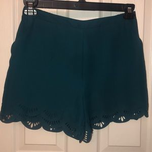 Turquoise dressy shorts- NEVER WORN!